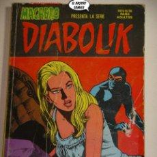Cómics: DIABOLIK Nº 9, ED. URSUS / NUEVA FRONTERA AÑO 1977, RECUERDOS DEL PASADO. Lote 228669075