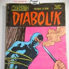 Cómics: DIABOLIK Nº 7, ED. URSUS / NUEVA FRONTERA AÑO 1977, MOMENTO TRAGICO. Lote 228669365