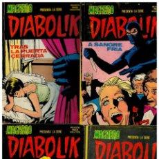 Cómics: MACABRO PRESENTA DIABOLIK. NÚMEROS 1,4,5 Y 10. URSUS 1976. (LA COLECCIÓN SON 10).MUY BUENOS.. Lote 245972115