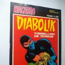 Cómics: DIABOLIK Nº 28, TORBELLINO DE TERROR. MACABRO, URSUS EDICIONES.. Lote 246060565