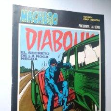 Cómics: DIABOLIK Nº 27, EL SECRETO DE LA ROCA NEGRA. MACABRO, URSUS EDICIONES.. Lote 246060740