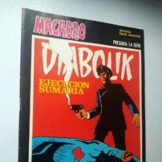 Cómics: DIABOLIK Nº 25, EJECUCIÓN SUMARIA. MACABRO, URSUS EDICIONES.. Lote 246061055