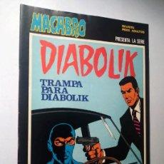 Cómics: DIABOLIK Nº 24, TRAMPA PARA DIABOLIK. MACABRO, URSUS EDICIONES.. Lote 246061375