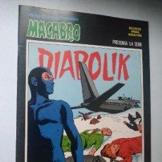 Cómics: DIABOLIK Nº 22, TRÁGICO VIAJE. MACABRO, URSUS EDICIONES.. Lote 246062165