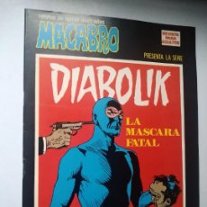 Cómics: DIABOLIK Nº 21. LA MÁSCARA FATAL. MACABRO, URSUS EDICIONES.. Lote 246062970