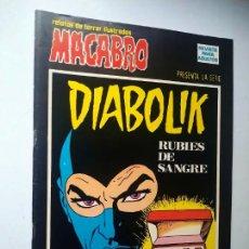 Cómics: DIABOLIK Nº 20, RUBIES DE SANGRE. MACABRO, URSUS EDICIONES.. Lote 246063525