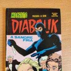 Cómics: DIABOLIK N 1 A SANGRE FRIA MACABRO URSUS NUEVA FRONTERA - REVISTA PARA ADULTOS - BUEN ESTADO. Lote 252246555