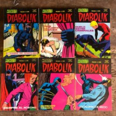 Cómics: DIABOLIK - ED. URSUS 1977 - 6 TOMOS. Lote 260510975