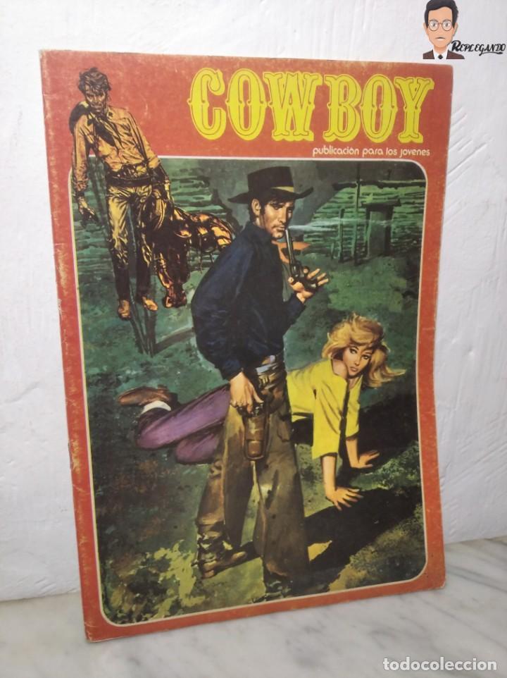 COWBOY Nº 5 (EL MÁS VALIENTE, SHERIFF IMPROVISADO, LOS COBARDES QUEDAN SOLOS) AÑOS 70 - URSUS (Tebeos y Comics - Ursus)