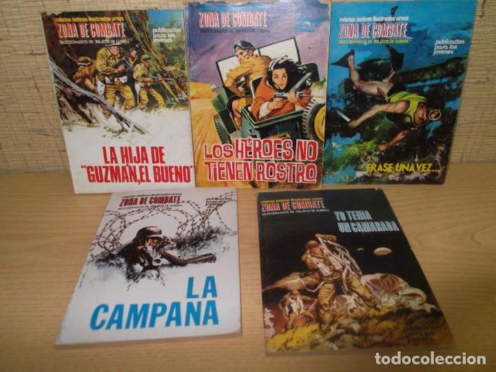 5 RELATOS BELICOS ZONA DE COMBATE.RELATOS DE GUERRA (Tebeos y Comics - Ursus)