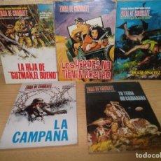 Cómics: 5 RELATOS BELICOS ZONA DE COMBATE.RELATOS DE GUERRA. Lote 267260029