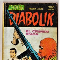 Cómics: DIABOLIK (MACABRO): 2 (DE 10 DE LA COLECCIÓN COMPLETA) URSUS, 1976.. Lote 288648223