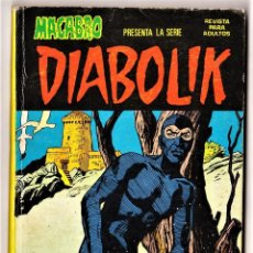 Cómics: DIABOLIK (MACABRO): 3 (DE 10 DE LA COLECCIÓN COMPLETA) URSUS, 1976.. Lote 288648543