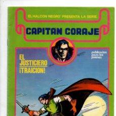 Cómics: EL HALCON NEGRO PRESENTA: CAPITAN CORAJE Nº 1. EL JUSTICIERO.., G. IRANZO. EDICIONES URSUS 1982. Lote 289863388