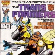 Cómics: TRANSFORMERS VOL.1 # 19 (MARVEL,1986). Lote 26811738