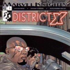 Cómics: COMPLETA - DISTRICT X # 1 AL 14 (MARVEL,2004) - DECIMATION - BISHOP - X-MEN - MUTOPIA. Lote 27229148