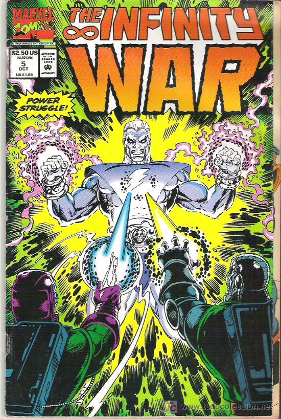 the infinity war - vol 1 num 5 1992 - comprar comics usa antiguos en