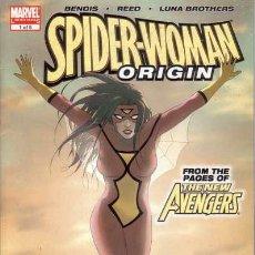 Cómics: COMPLETA - SPIDER WOMAN ORIGIN # 1 AL 5 (MARVEL,2006) - LUNA BROTHERS. Lote 27392402