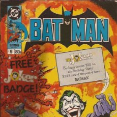 Cómics: COMIC-BATMAN NUM. 9-UK-LONDON EDITIONS-1989-INCLUYE CHAPA JOKER-. Lote 29836375