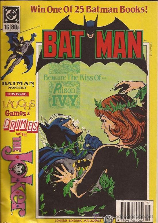 COMIC-BATMAN NUM. 16-UK-LONDON EDITIONS-1989--EN INGLES (Tebeos y Comics - Comics Lengua Extranjera - Comics USA)