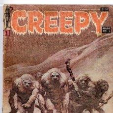 Cómics: LOTE DE 7 CREEPY ORIGINAL FRANCÉS 1969-1970 INCLUYE EL NÚMERO 1 VER DETALLES.FRAZETTA.. Lote 32709401