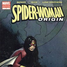 Cómics: SPIDER-WOMAN ORIGIN # 1 (MARVEL,2005) - LUNA BROTHERS - OLIVER COIPEL VARIANT COVER. Lote 32753046