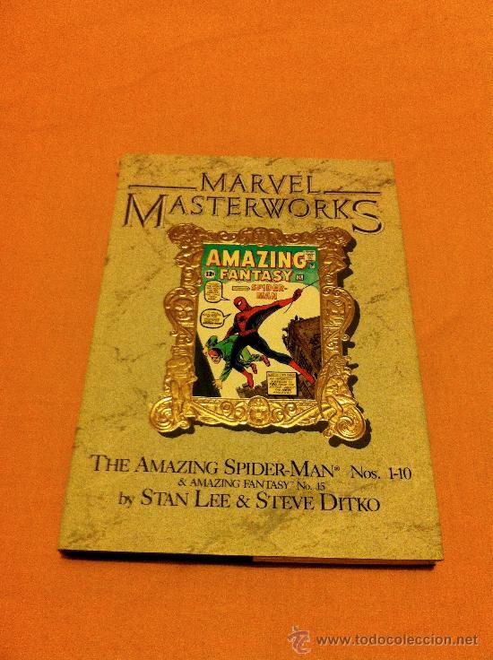 MARVEL MASTERWORKS AMAZING SPIDER-MAN VOLUME 1 AMAZING FANTASY #15, AMAZING SPIDER-MAN #1-10 VARIANT (Tebeos y Comics - Comics Lengua Extranjera - Comics USA)
