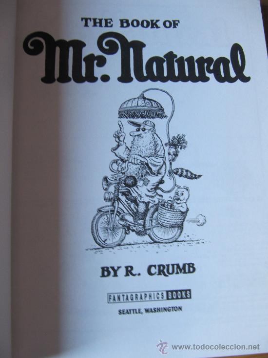 Cómics: ROBERT CRUMB - THE BOOK OF MR NATURAL - Foto 3 - 34172640
