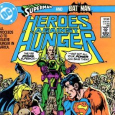 Cómics: HEROES AGAINST HUNGER # 1 (DC,1986) - NM -BATMAN - SUPERMAN - WRIGHTSON - BARRY SMITH - GEORGE PEREZ. Lote 207593233