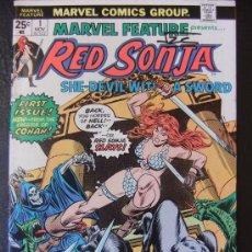Cómics: MARVEL FEATURE PRESENTS RED SONJA Nº 1 NOVIEMBRE 1975 ORIGINAL USA. Lote 35738738