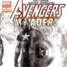 Cómics: AVENGERS INVADERS VOL.1 # 5 (MARVEL-DYNAMITE,2008) - ALEX ROSS SKETCH VARIANT COVER. Lote 36436729