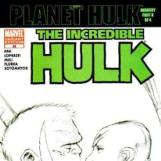 Fumetti: THE INCREDIBLE HULK VOL.2 # 98 (MARVEL,2006) - LADRONN SKETCH VARIANT COVER. Lote 36884619