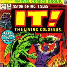 Cómics: ASTONISHING TALES 24. IT! THE LIVING COLOSSUS. 1974. MARVEL. EN INGLES. Lote 42188016