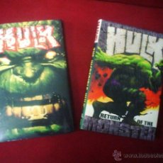 Cómics: THE INCREDIBLE HULK (BRUCE JONES) TOMOS 1 Y 2 (HARD COVER). Lote 43421423