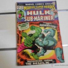Cómics: MARVEL SUPER HEROES. HULK Y SUBMARINER Nº 46. MARVEL COMICS. ORIGINAL AMERICANO. Lote 45647769