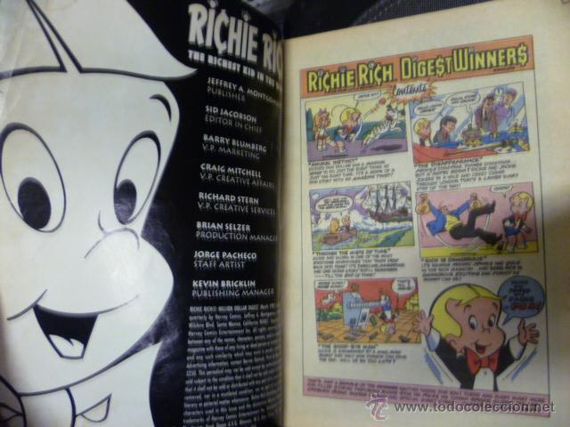 Cómics: Richie Rich - Millon Dollar -, COMIC ORIGINAL AMERICANO, COMICS DIGEST MAGAZINE - Foto 2 - 47392386