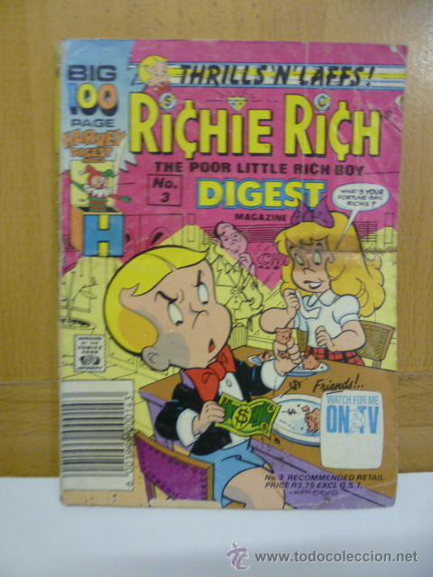 Cómics: RICHIE RICH - The Poor Little Rich Boy -, nº 3 - COMIC ORIGINAL AMERICANO, COMICS DIGEST MAGAZINE - Foto 1 - 47392532