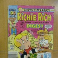 Cómics: RICHIE RICH - THE POOR LITTLE RICH BOY -, Nº 3 - COMIC ORIGINAL AMERICANO, COMICS DIGEST MAGAZINE . Lote 47392532