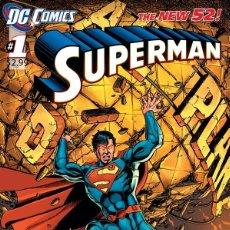 Cómics: SUPERMAN #1 NEW 52 (ORIGINAL AMERICANO, PRIMER NÚMERO, PRIMERA EDICIÓN, NUEVO UNIVERSO, 2011). Lote 218530468