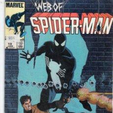Cómics: COMIC MARVEL USA 1986 WEB OF SPIDERMAN Nº 10 (EXCELENTE ESTADO). Lote 51710453