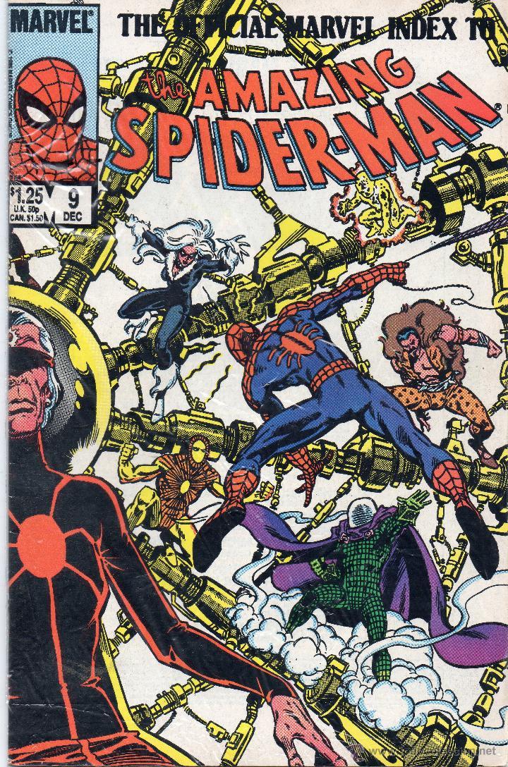 COMIC MARVEL OFFICIAL INDEX AMAZING SPIDERMAN Nº 9 (EXCELENTE ESTADO) (Tebeos y Comics - Comics Lengua Extranjera - Comics USA)