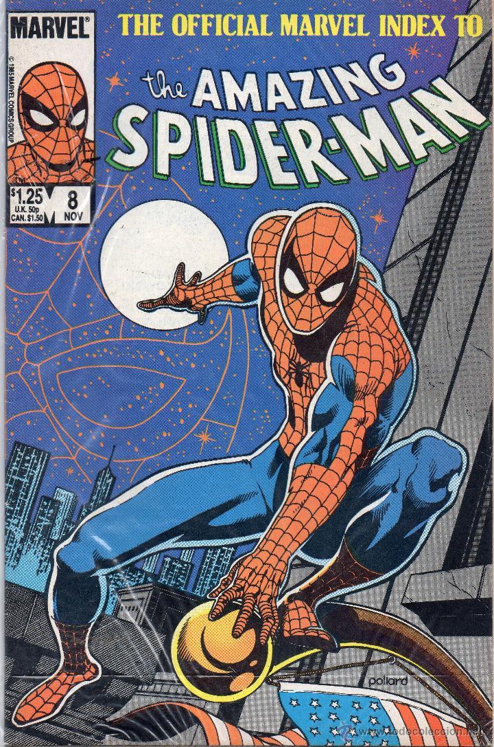 COMIC MARVEL USA 1985 OFFICIAL INDEX AMAZING SPIDERMAN Nº 8 (EXCELENTE ESTADO) (Tebeos y Comics - Comics Lengua Extranjera - Comics USA)