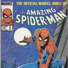 Cómics: COMIC MARVEL USA 1985 OFFICIAL INDEX AMAZING SPIDERMAN Nº 8 (EXCELENTE ESTADO). Lote 51733886
