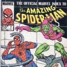 Cómics: COMIC MARVEL USA 1985 OFFICIAL INDEX AMAZING SPIDERMAN Nº 7 EXCELENTE ESTADO. Lote 51734147