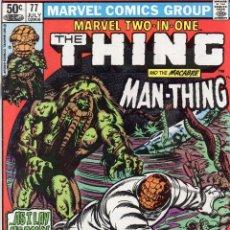 Cómics: COMIC MARVEL USA 1981 MARVEL TWO-IN-ONE Nº 77 EXCELENTE ESTADO. Lote 51805475