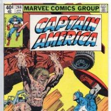 Cómics: COMIC MARVEL USA 1980 CAPTAIN AMERICA Nº 244 EXCELENTE ESTADO. Lote 51819202
