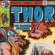 Cómics: COMIC MARVEL USA 1979 THE MIGHTY THOR Nº 281 EXCELENTE ESTADO. Lote 51922066