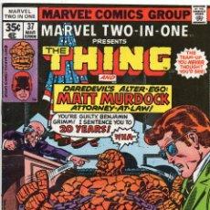 Cómics: COMIC MARVEL USA 1978 MARVEL TWO-IN-ONE Nº 37 EXCELENTE ESTADO. Lote 51941000