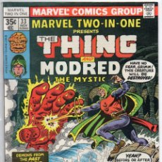 Cómics: COMIC MARVEL USA 1977 MARVEL TWO-IN-ONE Nº 33 EXCELENTE ESTADO. Lote 51941160