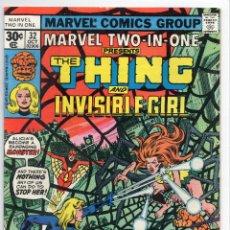 Cómics: COMIC MARVEL USA 1977 MARVEL TWO-IN-ONE Nº 32 EXCELENTE ESTADO. Lote 51941309